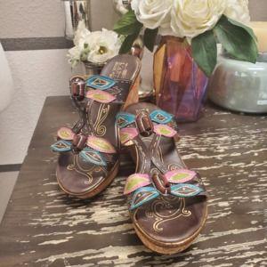 L'Artiste Queenston Wedge Sandals